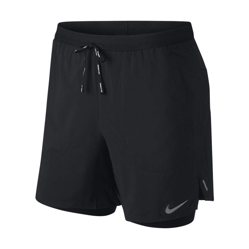Nike Men's Flex Stride 2 In 1 7 Inch Shorts Black / Reflective Silver - achilles heel