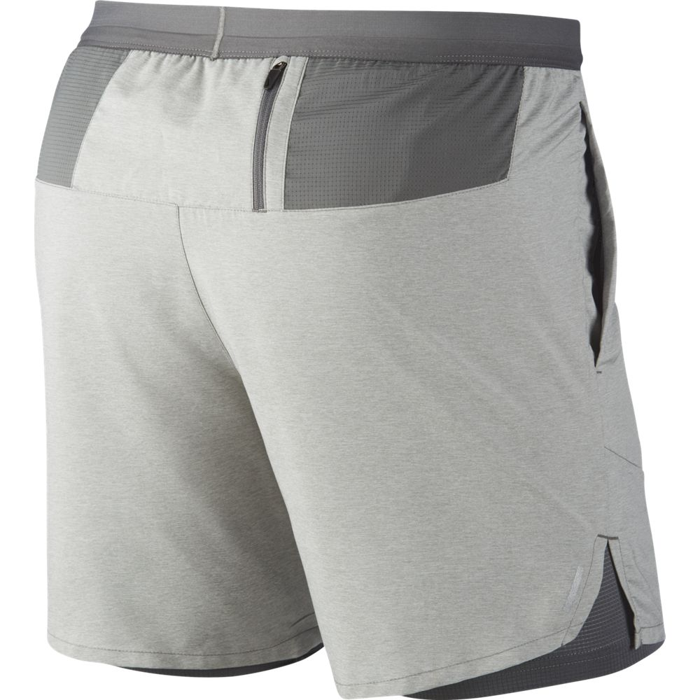 Nike Men's Flex Stride 2 in 1 7 Inch Shorts Iron Grey / Iron Grey Heather / Reflective Silver - achilles heel