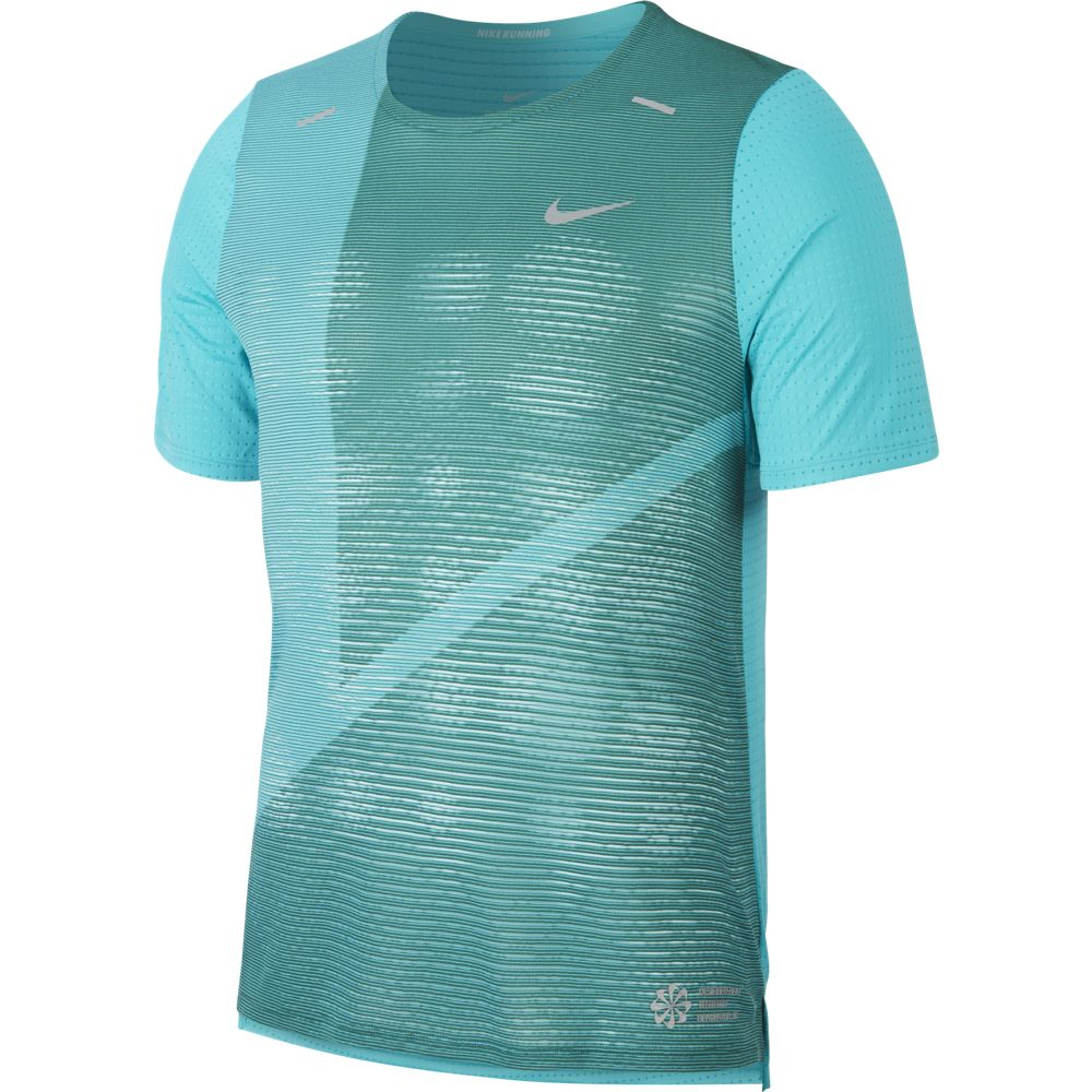 Nike Men's Rise 365 Future Fast Hybrid Tee Evergreen Aura / Reflective Silver - achilles heel