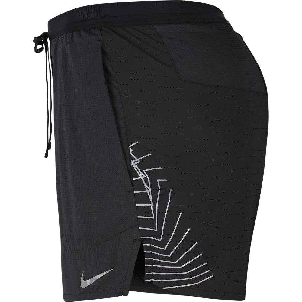 Nike Men's Flex Stride Future Fast 5 Inch Short Black / Reflective Silver - achilles heel