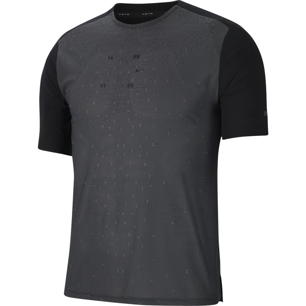 Nike Men's Tech Pack Hybrid Tee Black / Reflective Silver - achilles heel