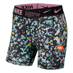 Nike Girls Pro Boys Shorts Black / Magic Flamingo - achilles heel