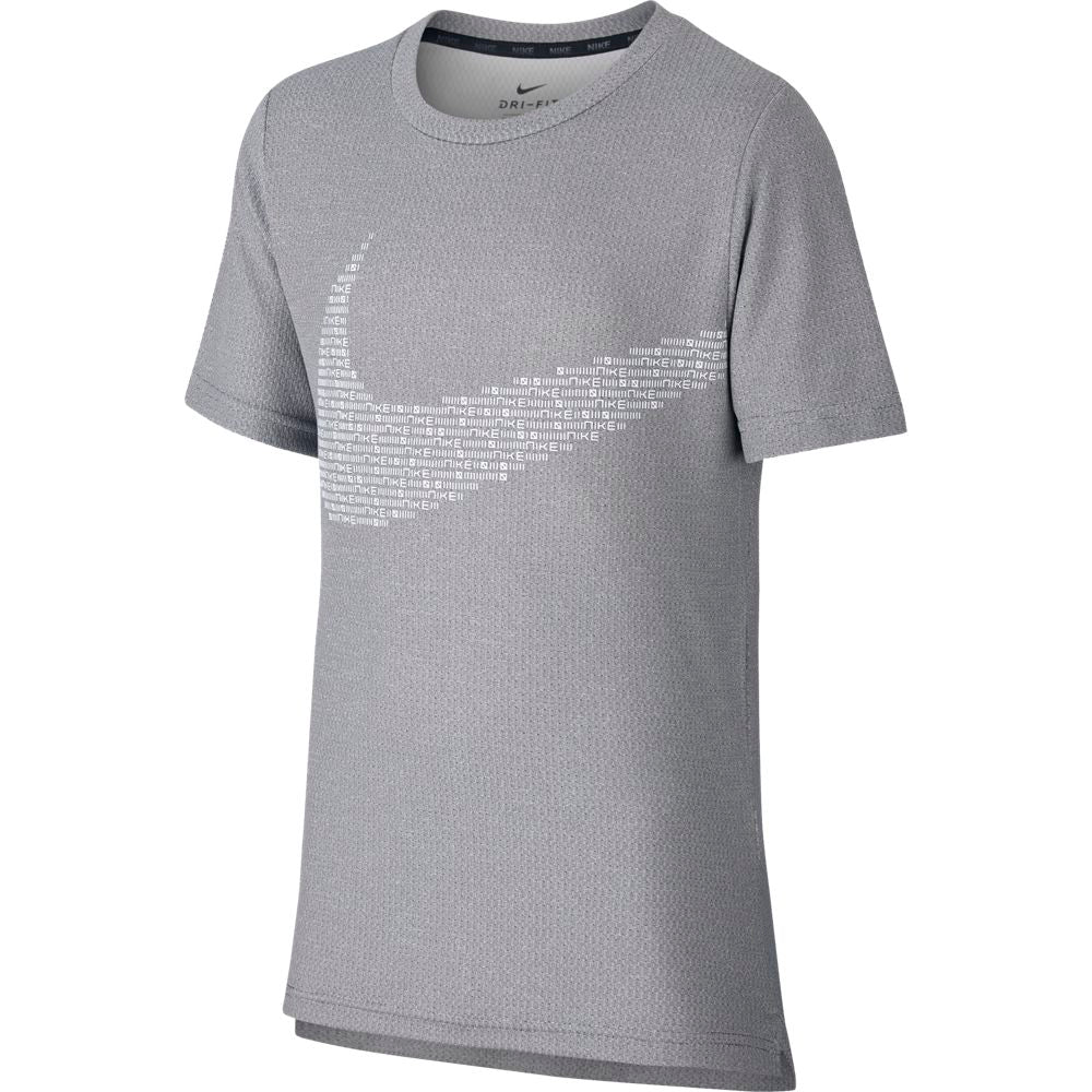 Nike Boys Statement Performance Tee Black / White - achilles heel