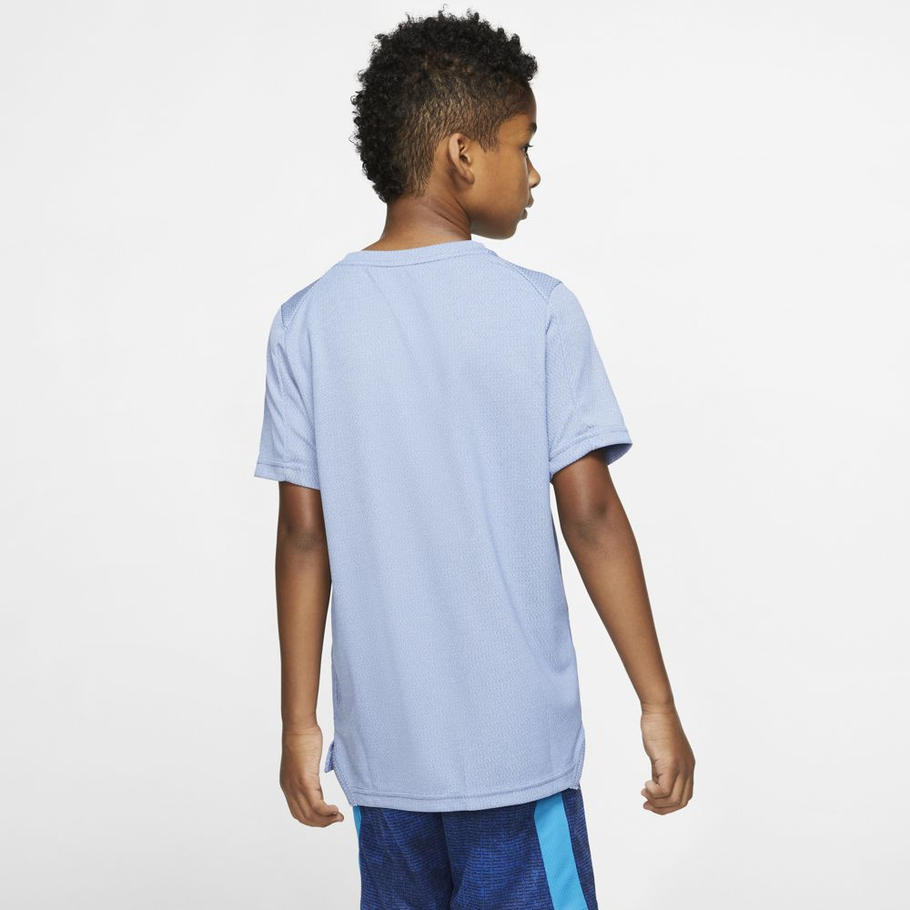 Nike Boys Statement Performance Tee Game Royal / White - achilles heel