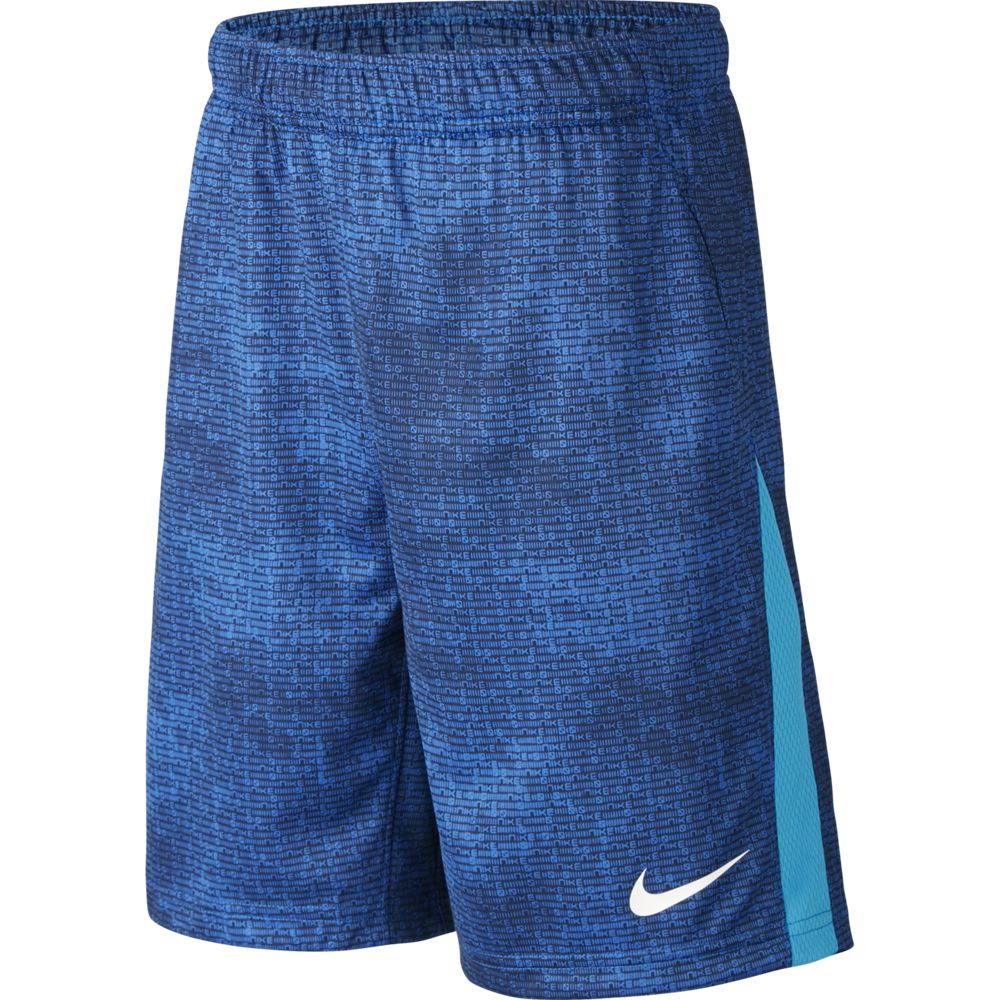 Nike Boys Print Shorts Game Royal / Laser Blue / White - achilles heel
