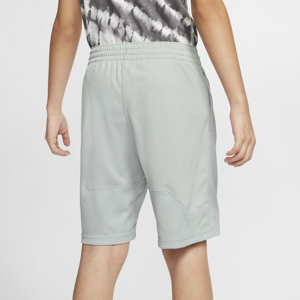 Nike Boys HBR Short Light Smoke Grey / Ghost Green - achilles heel