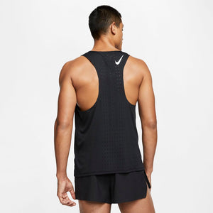 Nike Men's AeroSwift Singlet Black / White - achilles heel