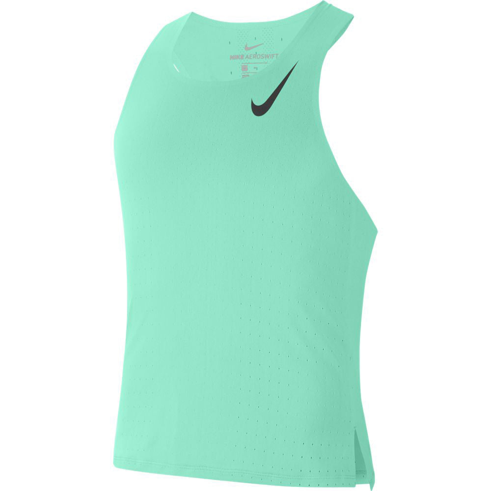 Nike Men's Aeroswift Singlet Green Glow / Black - achilles heel