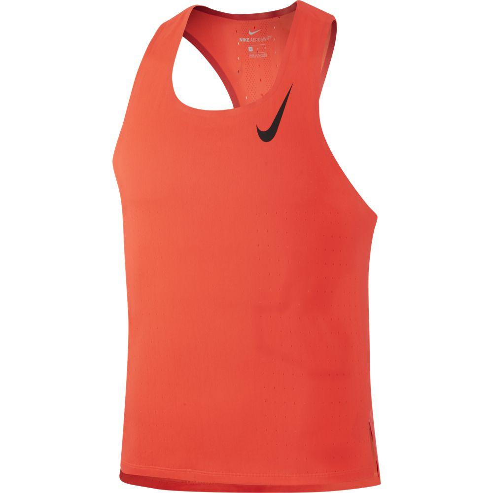 Nike Men's Aeroswift Singlet Bright Crimson / Black - achilles heel