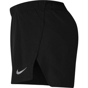 Nike Men's Fast 4 Inch Short Black / Reflective Silver - achilles heel