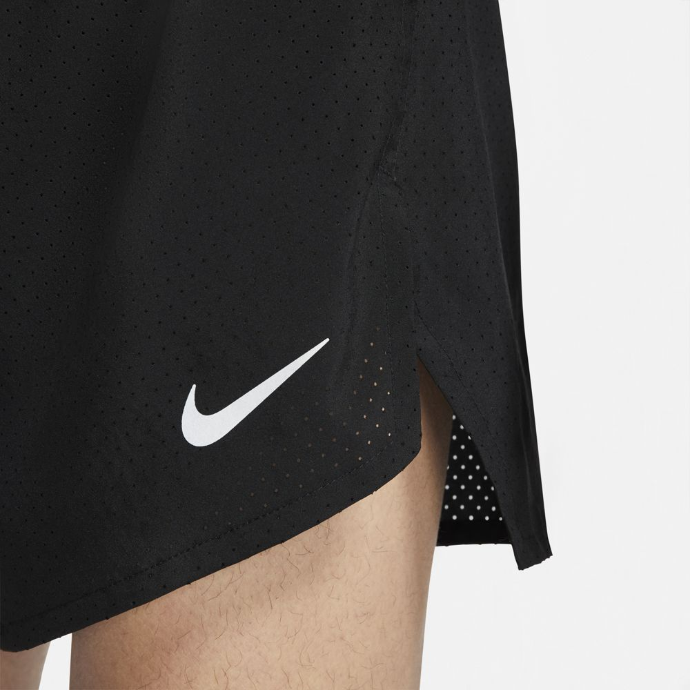 Nike Men's Fast 4 Inch Shorts Black / Reflective Silver - achilles heel