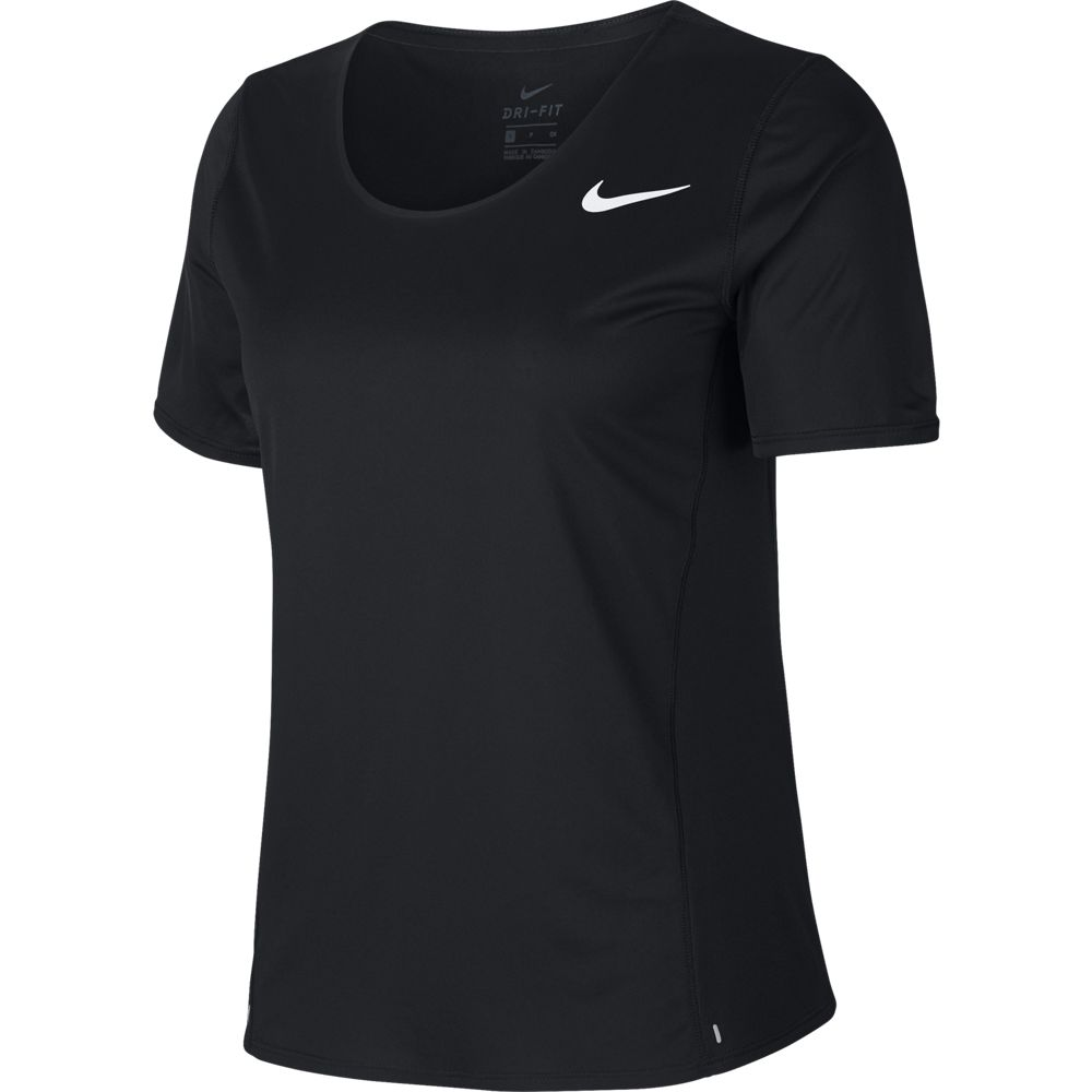 Nike Women's City Sleek Tee Black / Reflective Silver - achilles heel