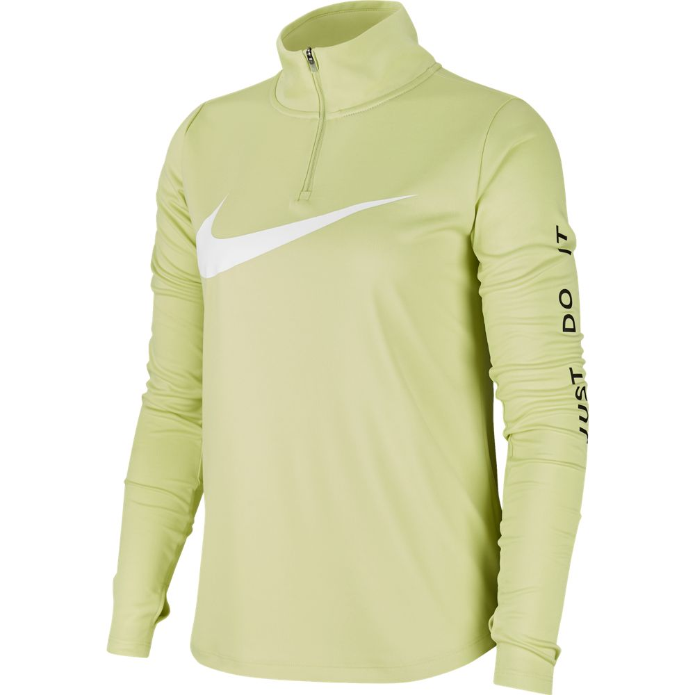 Nike Women's Midlayer Swoosh Run Top Limelight / White - achilles heel