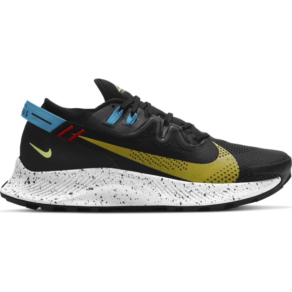 Nike Men's Pegasus Trail 2 Trail Running Shoes Black / Dark Sulfur / Off Noir - achilles heel
