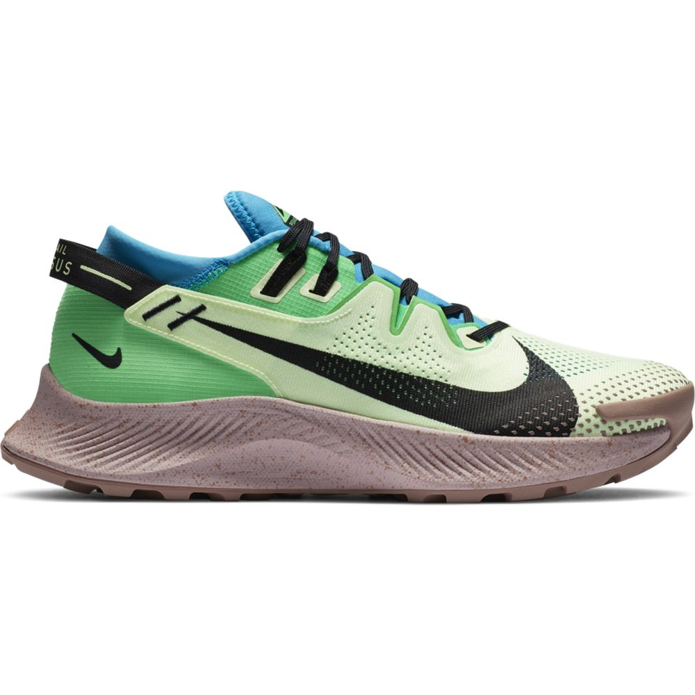 Nike Men's Pegasus 2 Trail Running Shoes Barely Volt / Black / Laser Blue - achilles heel