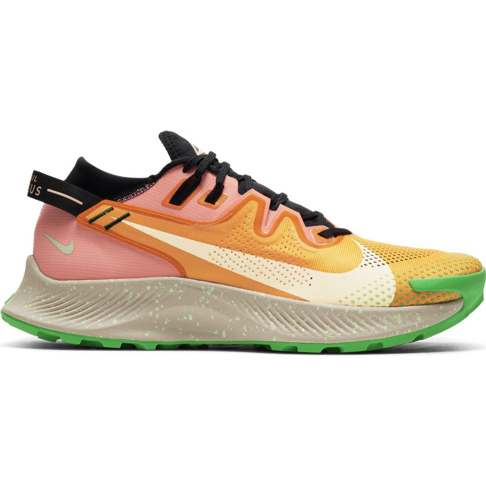 Nike Men's Pegasus 2 Trail Running Shoes Kumquat / Crimson Tint / Black / Atomic Pink - achilles heel