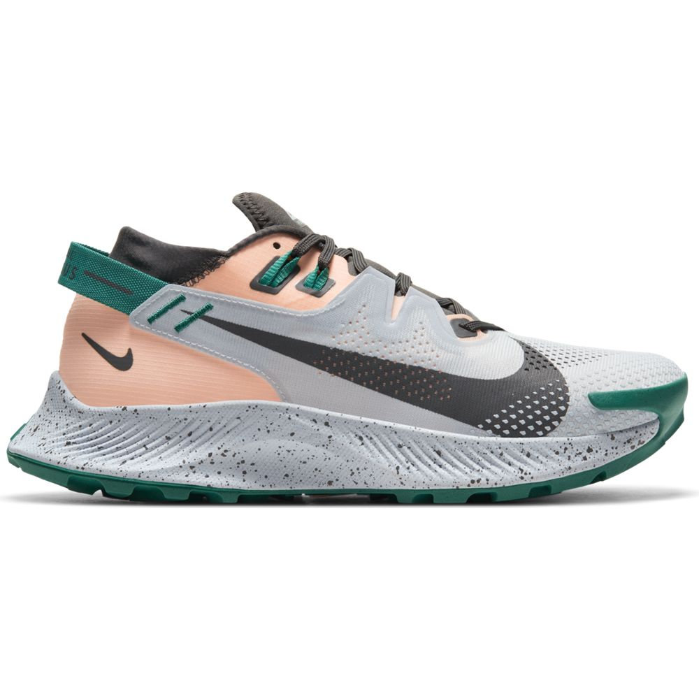 Nike Women's Pegasus Trail 2 Trail Running Shoes Football Grey / Iron Grey / Crimson Tint - achilles heel