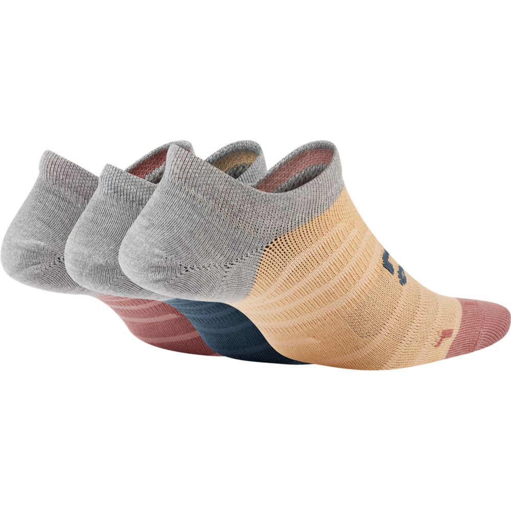 Nike Women's Everyday Max Lightweight No-Show Socks 3 Pack Teal / Orange / Peach - achilles heel