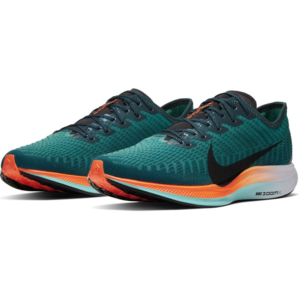 Nike Men's Zoom Pegasus Turbo 2 Ekiden Running Shoes Neptune Green / Black - achilles heel