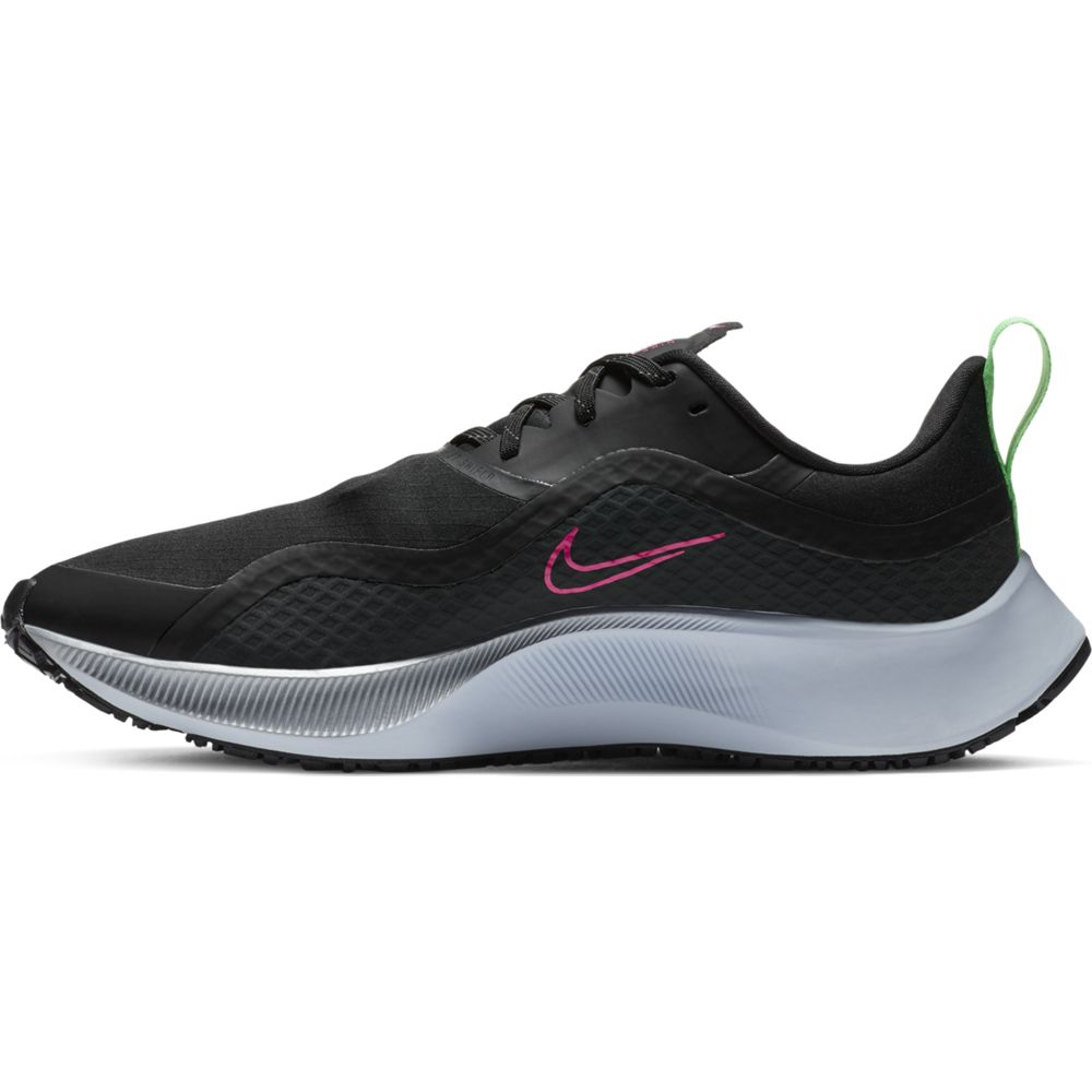 Nike Men's Air Zoom Pegasus 37 Shield Running Shoes Black / Pink Blast / Iron Grey - achilles heel