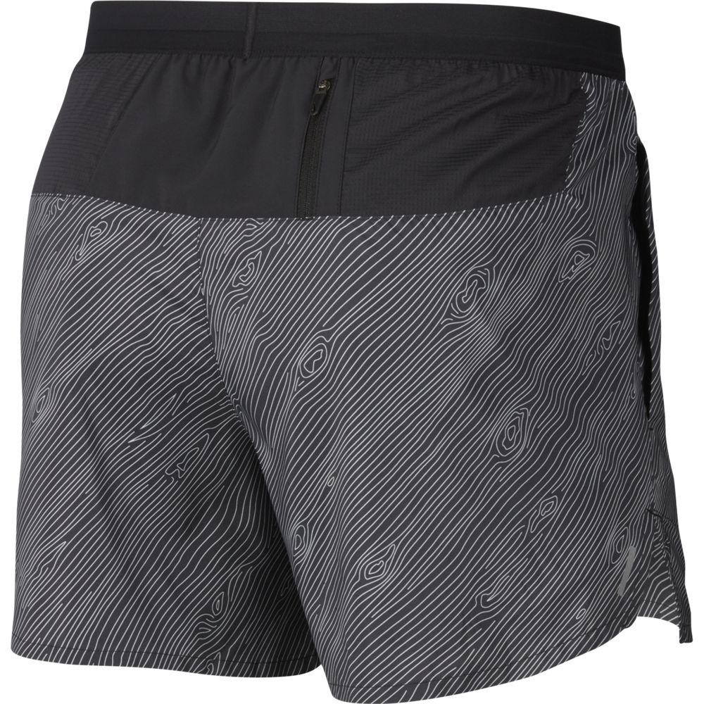Nike Men's Trail Flex Stride 5 Inch Shorts Black / Laser Crimson - achilles heel