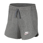 Nike Girls Sportswear Jersey Short Carbon Heather / Pink - achilles heel