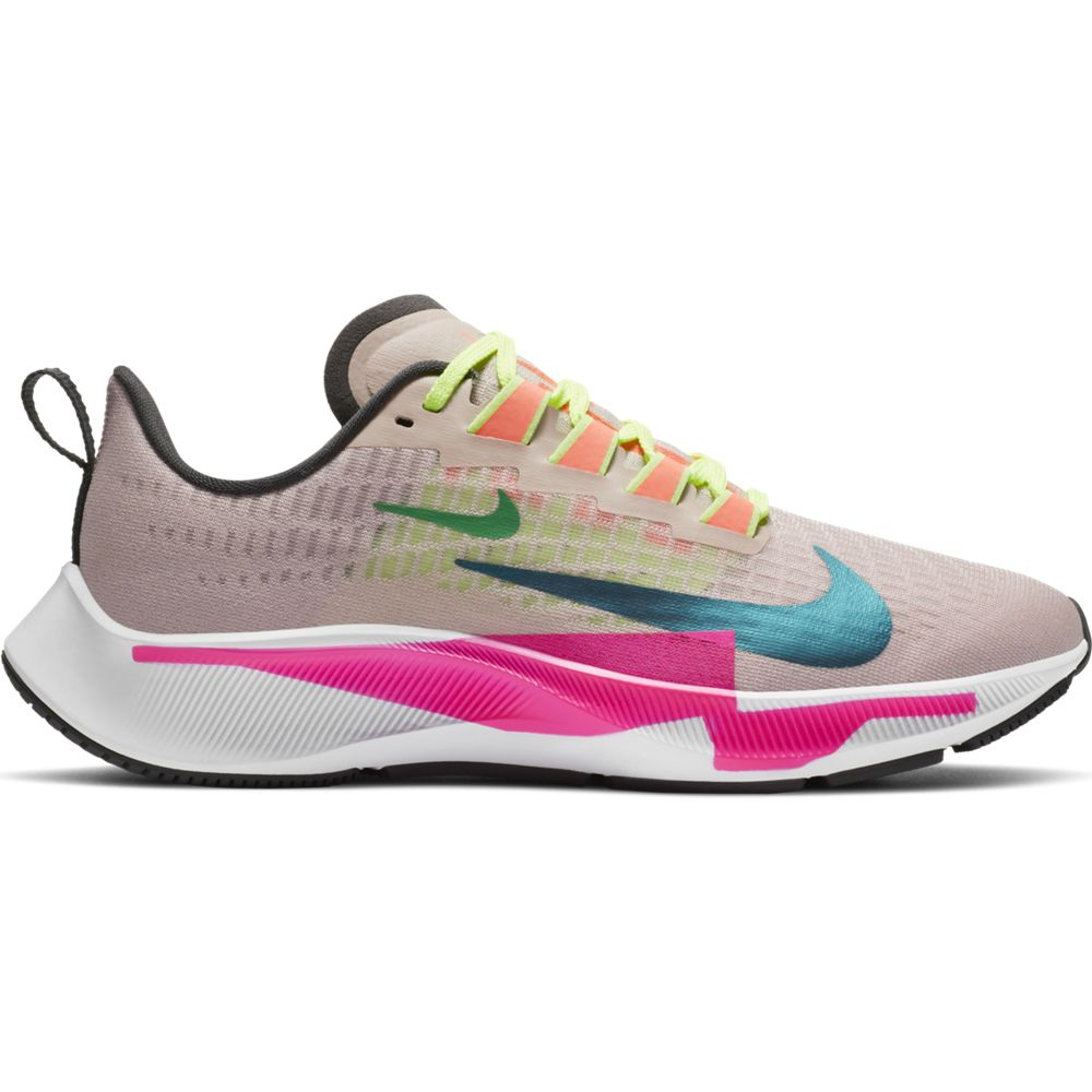 Nike Women's Air Zoom Pegasus 37 Premium Running Shoes Barely Rose / Bright Spruce - achilles heel