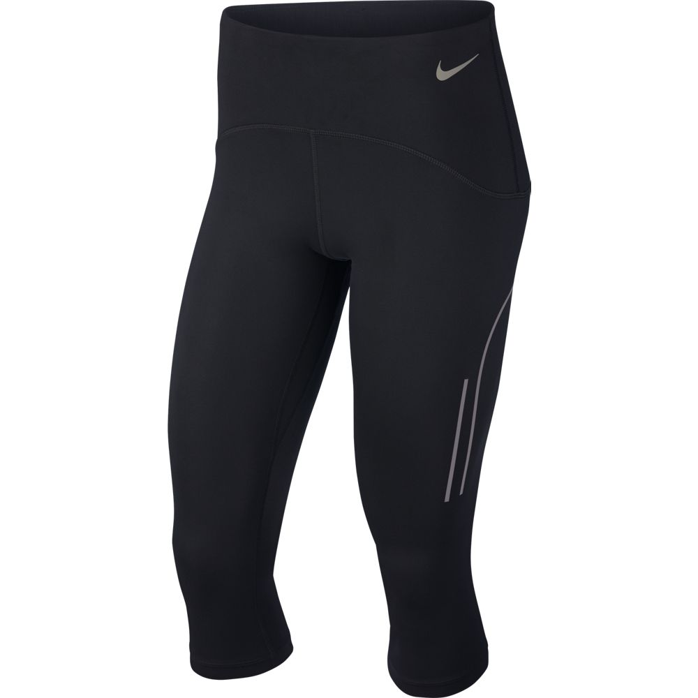 Nike Women's Speed Capri Black / Gunsmoke - achilles heel