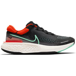 Nike Men's ZoomX Invincible Run Flyknit Running Shoes Black / Chile Red / Green - achilles heel