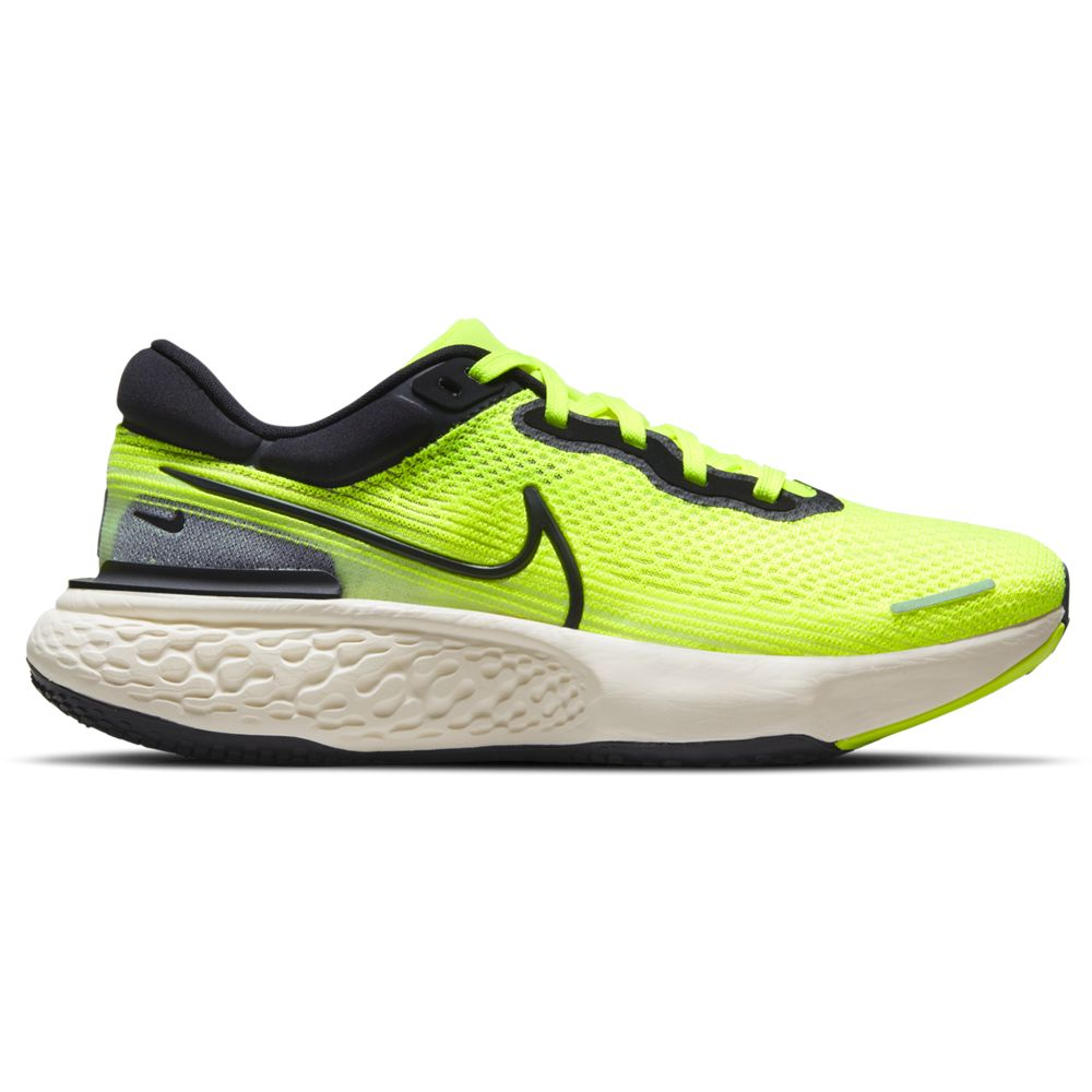 Nike Men's ZoomX Invincible Run Flyknit Running Shoes Volt / Black / Barley Volt - achilles heel