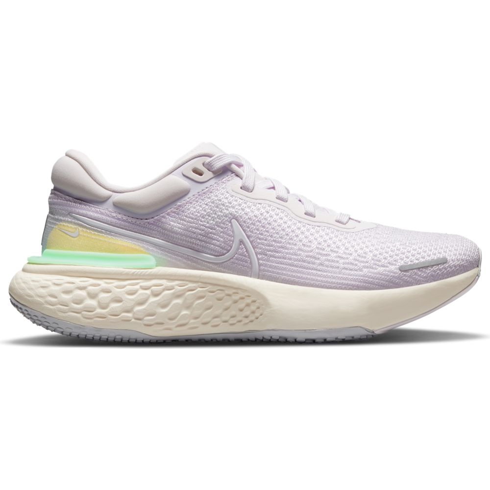 Nike Women's ZoomX Invincible Run Flyknit Running Shoes Light Violet / White / Infinite Lilac - achilles heel