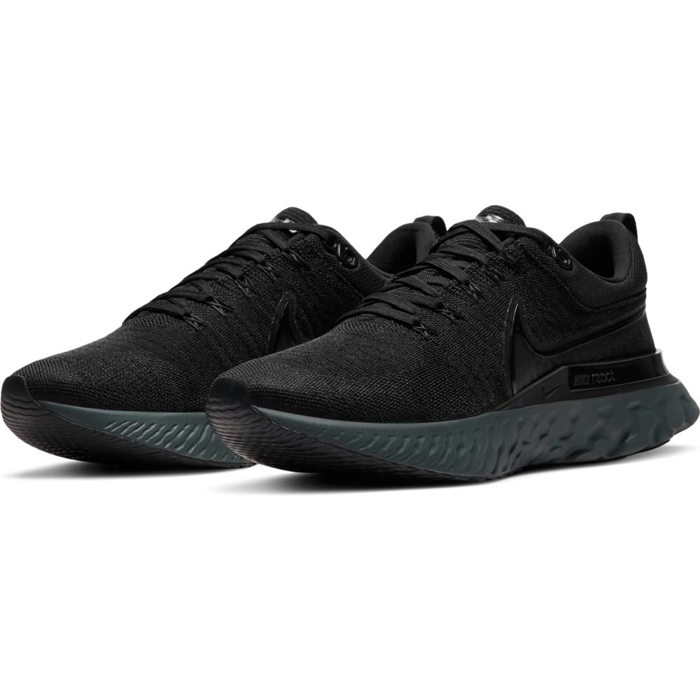 Nike Men's React Infinity Run Flyknit 2 Running Shoes Black / Black - achilles heel
