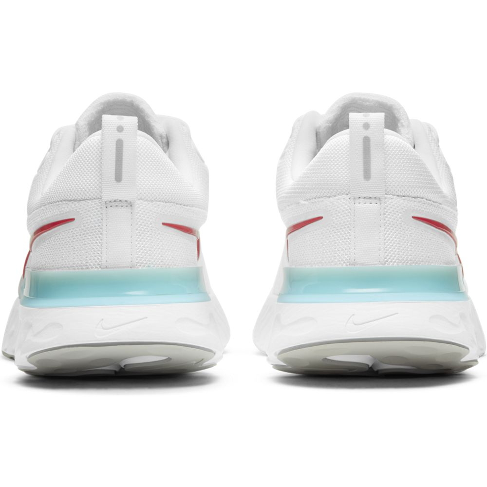 Nike Men's React Infinity Run Flyknit 2 Running Shoes White / Chile Red / Glacier Ice / Phantom Dust - achilles heel