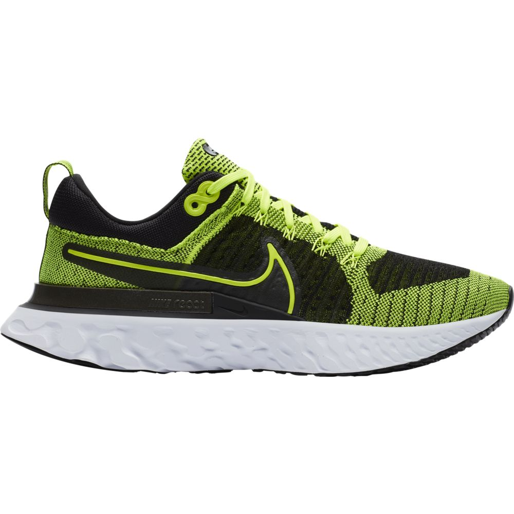 Nike Men's React Infinity Run Flyknit 2 Running Shoes Volt / Volt / Black - achilles heel