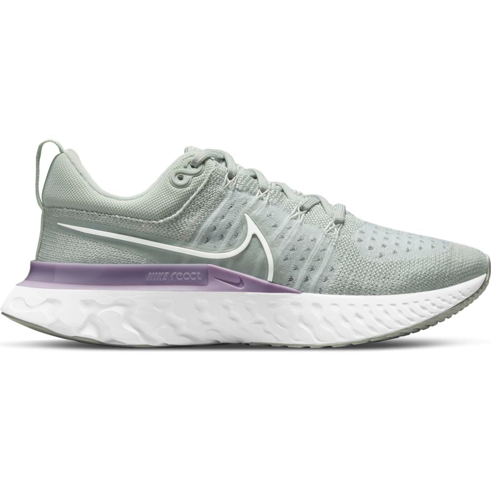 Nike Women's React Infinity Run Flyknit Running Shoes Light Silver / Infinite White / Lilac - achilles heel