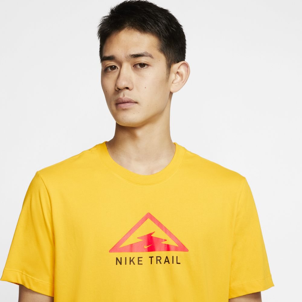 Nike Men's Dri-Fit Trail Tee Speed Yellow - achilles heel