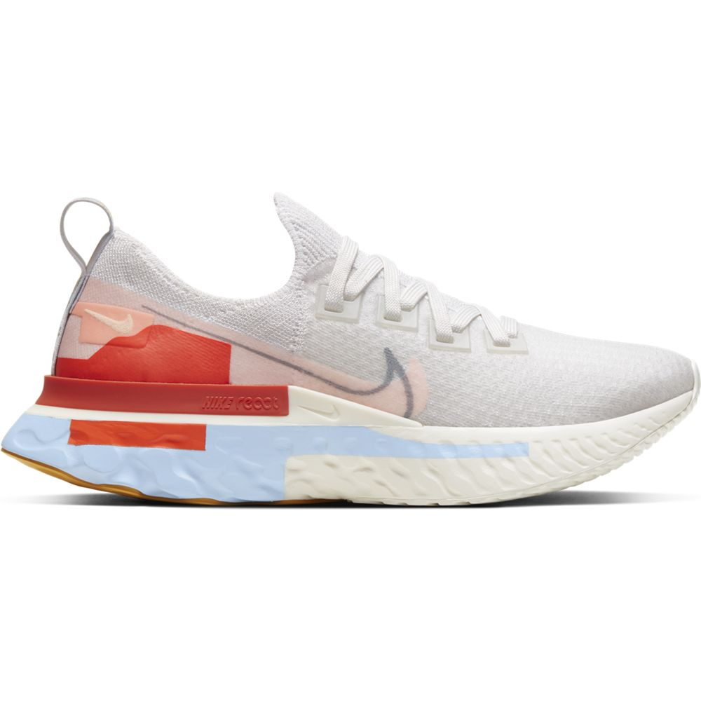 Nike Women's React Infinity Run Flyknit Running Shoes Platinum Tint / Washed Coral - achilles heel
