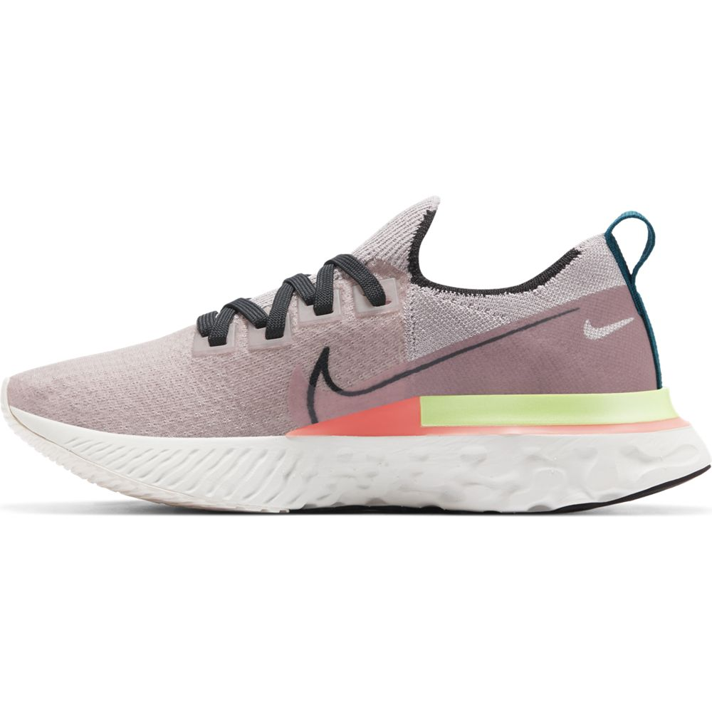Nike Women's React Infinity Run Flyknit Premium Running Shoes Violet Ash / Dark Smoke Grey - achilles heel