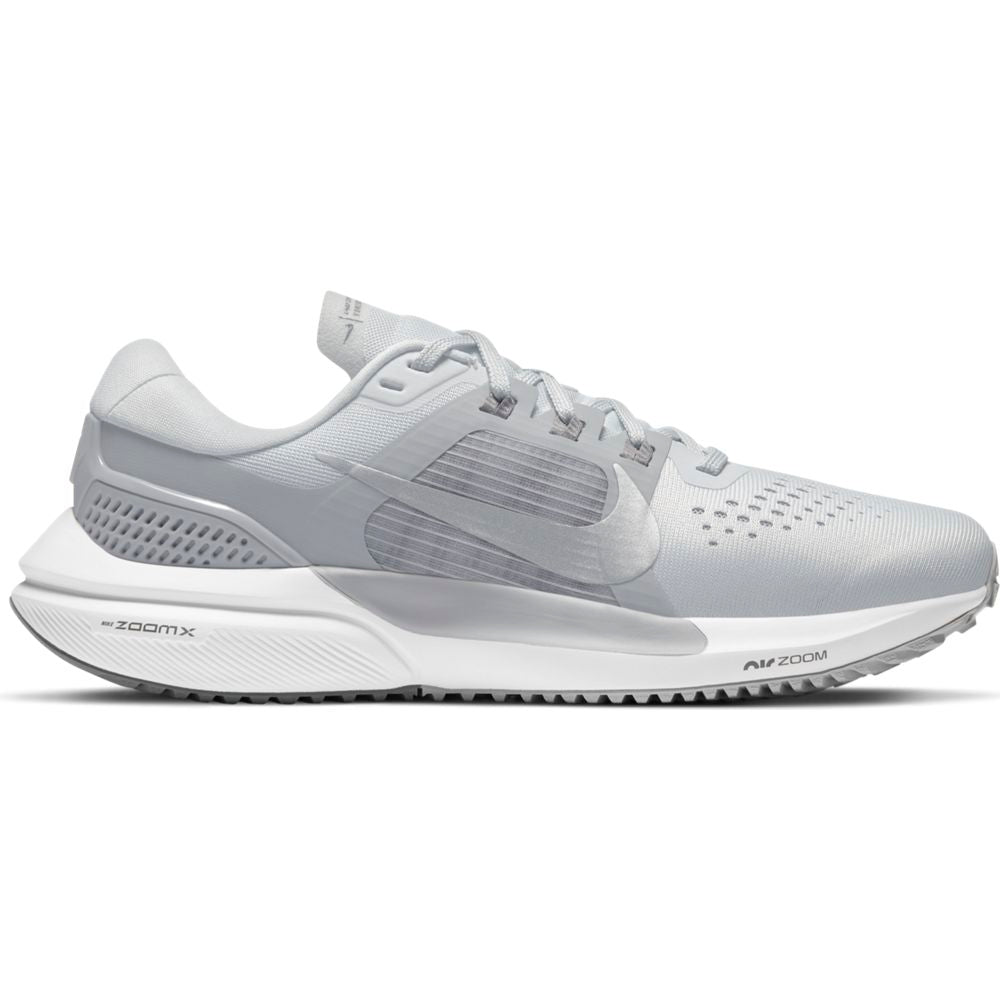 Nike Women's Air Zoom Vomero 15 Running Shoes Pure Platinum / Metallic Silver / Wolf Grey - achilles heel