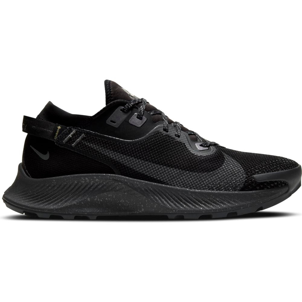 Nike Men's Pegasus Trail 2 GORE-TEX Trail Running Shoes Black / Iron Grey / Metallic Dark Grey - achilles heel
