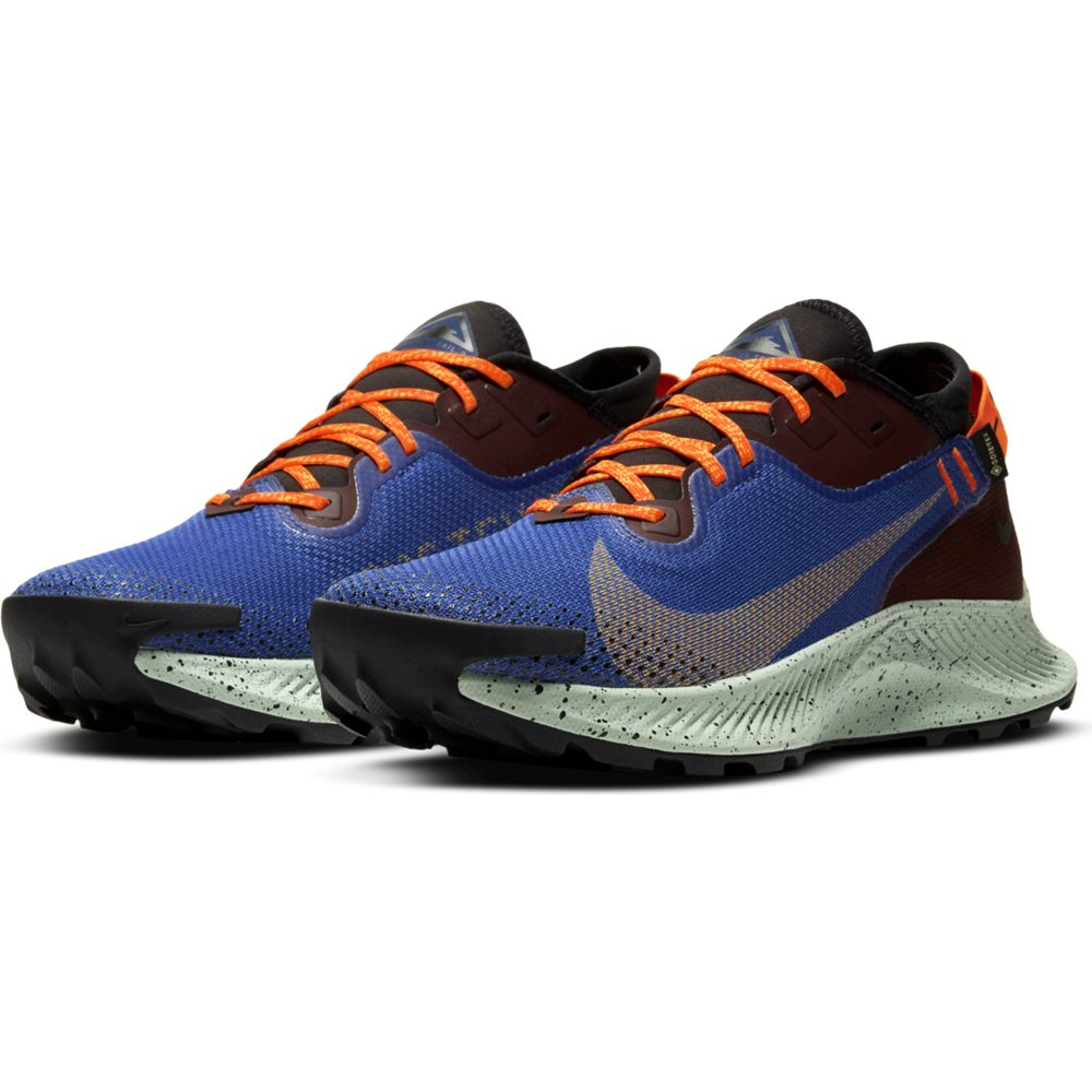 Nike Men's Pegasus 2 GORE-TEX Trail Running Shoes Mystic Dates / Laser Orange - achilles heel