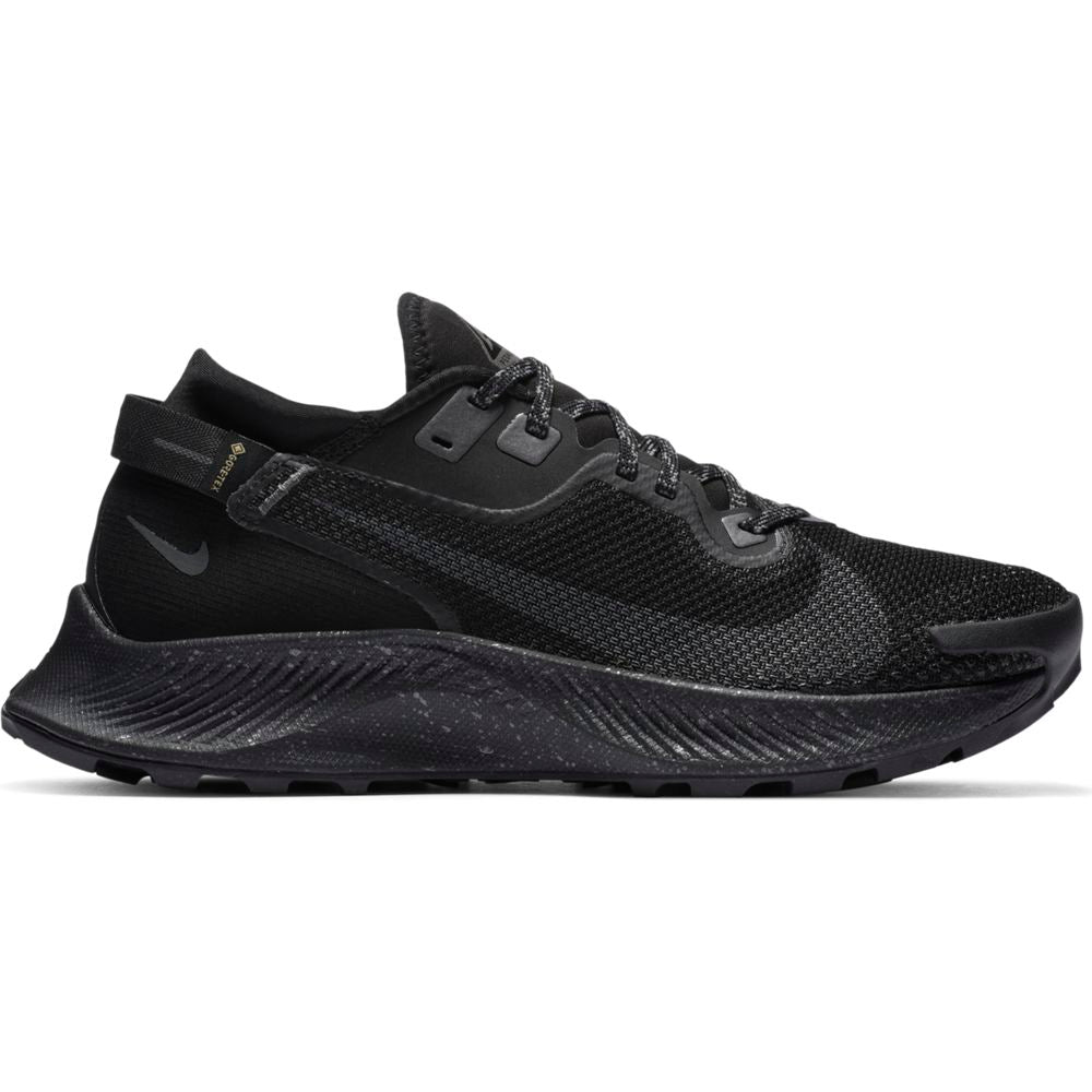 Nike Women's Pegasus 2 GORE-TEX Trail Running Shoes Black / Iron Grey / Metallic Dark Grey - achilles heel