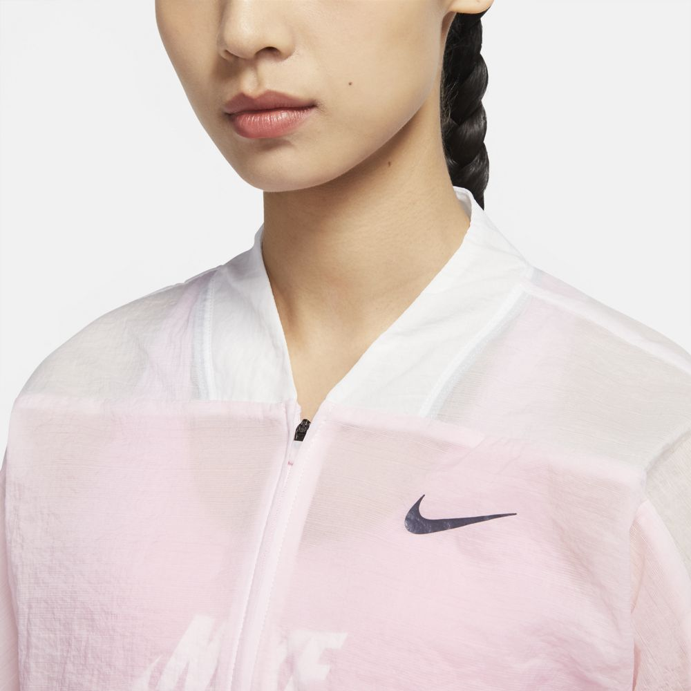 Nike Women's Icon Clash Jacket Pink Foam / White / Black - achilles heel