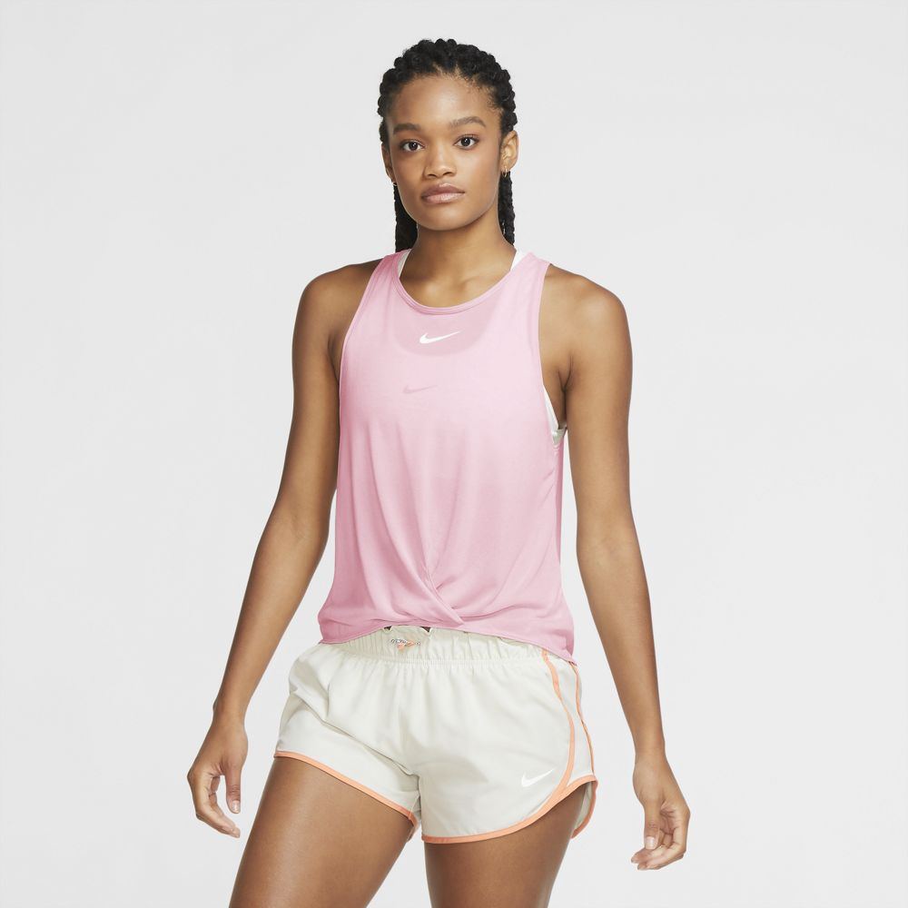 Nike Women's Icon Clash Tank Pink Foam / Heather / White - achilles heel