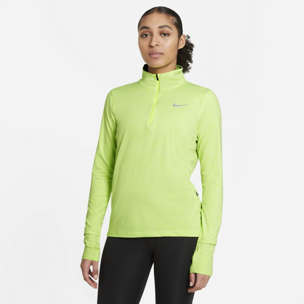 Nike Women's Element Top Volt / Barely Volt / Heather - achilles heel
