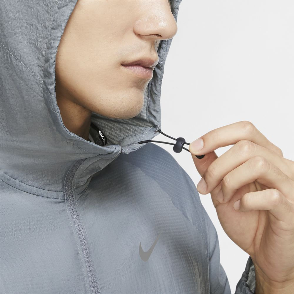 Nike Men's Essential Hooded Jacket Smoke Grey / Reflective Silver - achilles heel