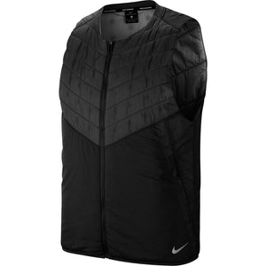 Nike Men's Aerolayer Gilet Black / Reflective Silver - achilles heel