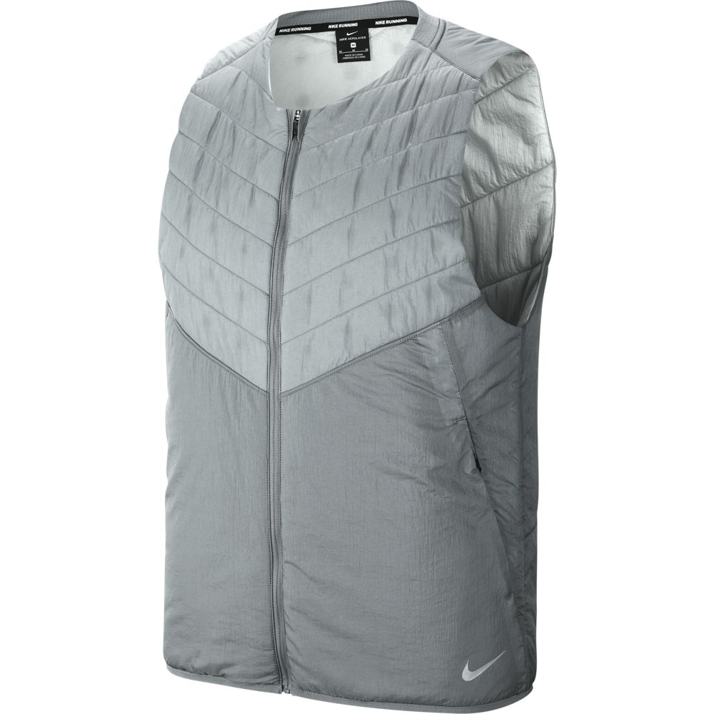 Nike Men's AeroLayer Gilet Smoke Grey / Reflective Silver - achilles heel