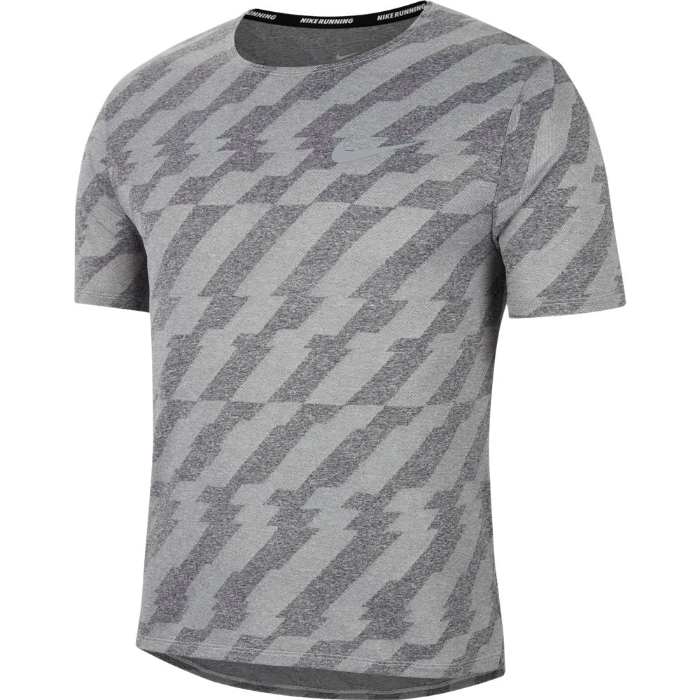 Nike Men's Miler Future Fast Tee Black / Grey Fog / Reflective Silver - achilles heel