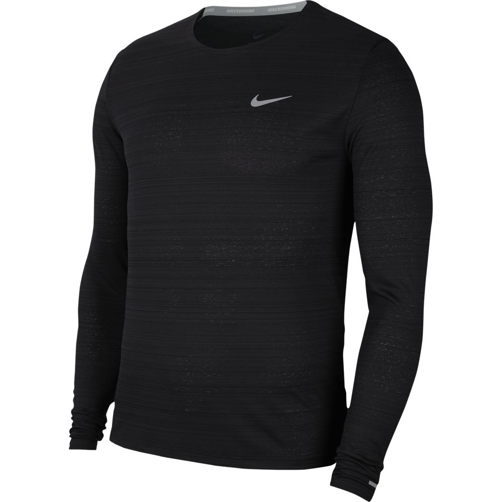 Nike Men's Miler Top Black / Reflective Silver - achilles heel